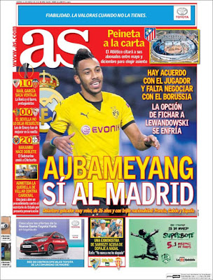 Portada AS: Aubameyang