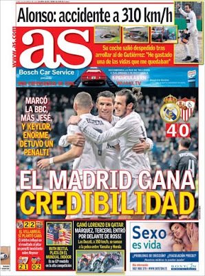 Portada AS: el Madrid gana credibilidad