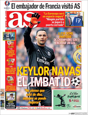 Portada AS: Keylor Navas