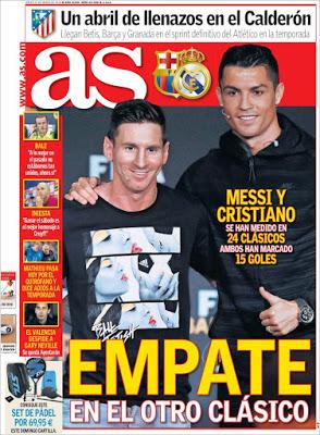 Portada As: Messi vs. Ronaldo