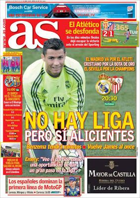 Portada AS: Real Madrid-Sevilla