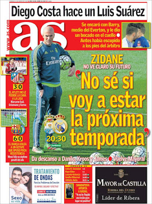 Portada AS: Zidane