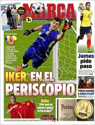 Portada Marca: Iker, en el periscopio