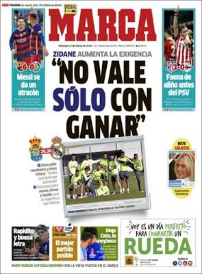 Portada Marca: Las Palmas-Real Madrid