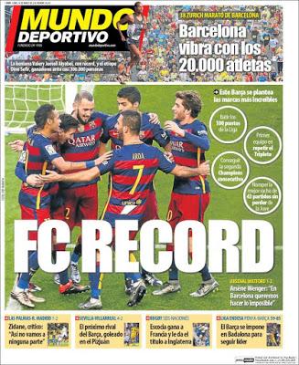 Portada Mundo Deportivo: FC Récord