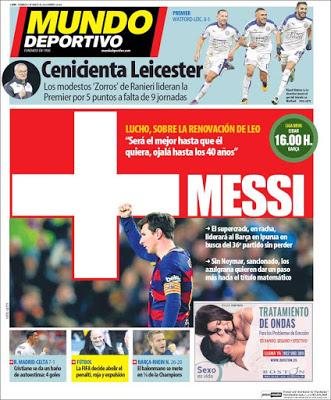 Portada Mundo Deportivo: más Messi