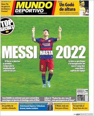 Portada Mundo Deportivo: Messi 2022