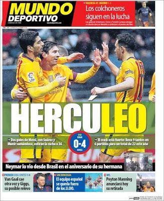 Portada Mundo Deportivo: Hercúleo