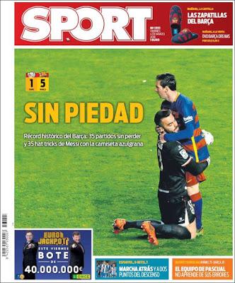 Portada Sport: Sin piedad