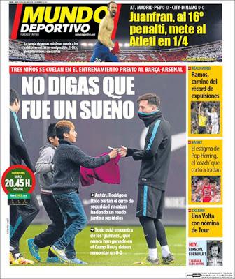 Portada Mundo Deportivo: No digas que fue un sueño