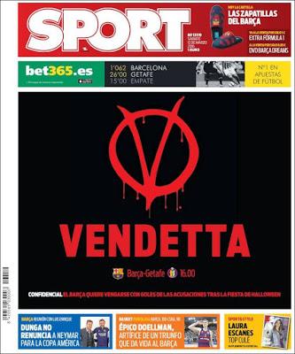 Portada Sport: Vendetta