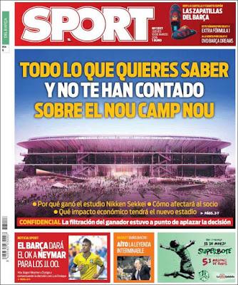 Portada Sport: El Nou Camp Nou