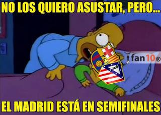 Los memes del Atlético Madrid-Barcelona champions  homero simpson