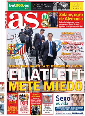 Portada AS: El Atlético mete miedo