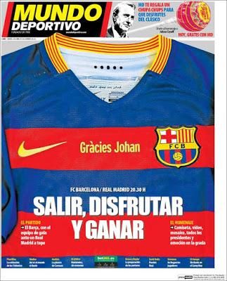 Portada AS: Barça-Madrid Gracies Johan