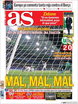 Portada AS: Este Madrid es un Tango
