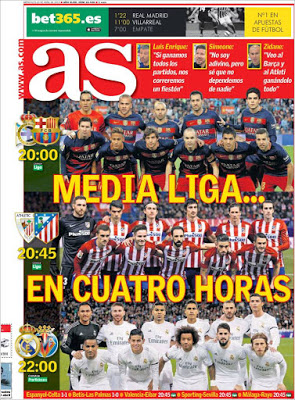 Portada AS: Media Liga...en cuatro horas