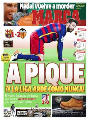 Portada Marca: el Barça a Pique