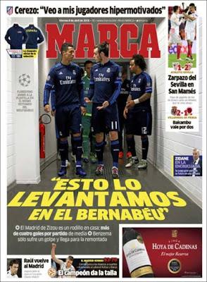 Portada Marca: Esto lo levantamos en el Bernabéu
