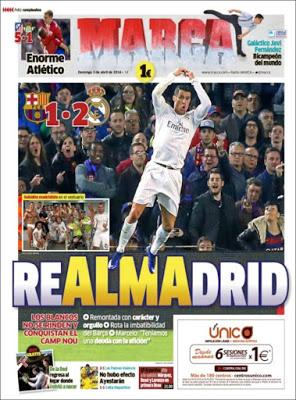 Portada Marca: Real Madrid gana el clásico