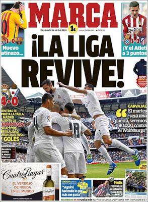 Portada Marca: La Liga revive