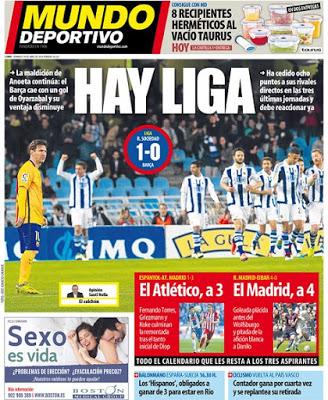 Portada Mundo Deportivo: Hay Liga!
