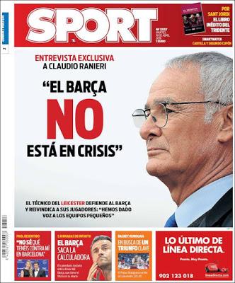 Portada Sport: Entrevista a Ranieri