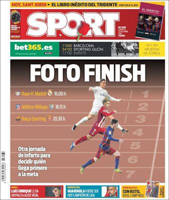 Portada Sport: Foto finish