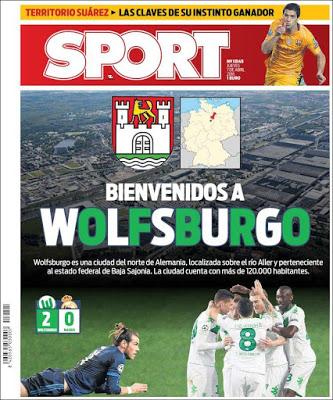 Portada Sport: Bienvenidos a Wolfsburgo