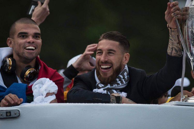 Festejos Undécima Cibeles Pepe y Sergio Ramos