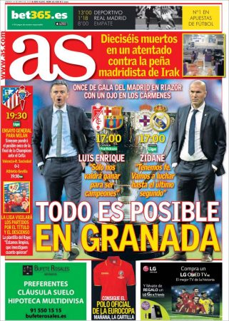Portada AS: Todo es posible en Granada