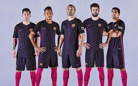 Segunda equipación FC Barcelona 2016 - 2017