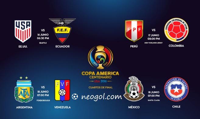 Cuartos de final Copa América 2016