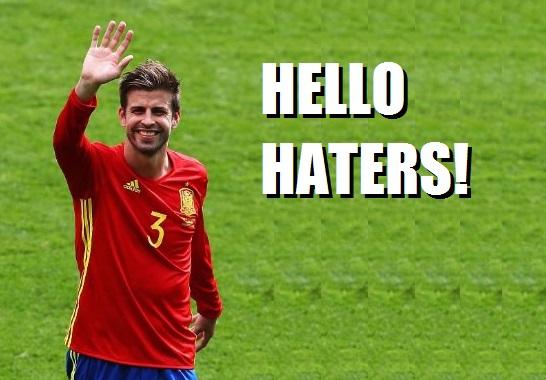 memes España República Checa Gerard Piqué hello haters