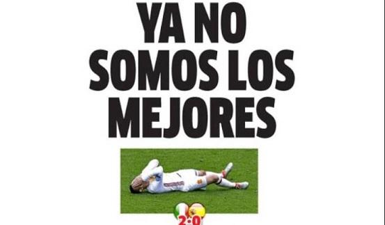 España cae ante Italia eurocopa