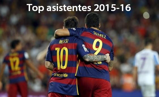 Máximos asistentes Liga Española 2015-2016