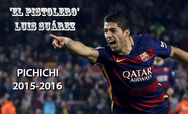 Tabla Goleadores Liga Española 2016 luis suárez pichihci