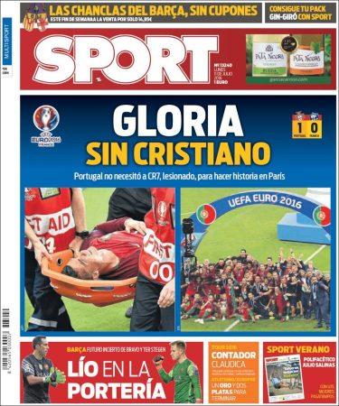 portada-sport-portugal-campeon-ronaldo-lesion