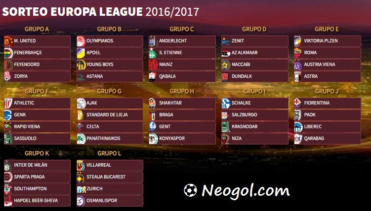 Calendario Europa League 2016-2017