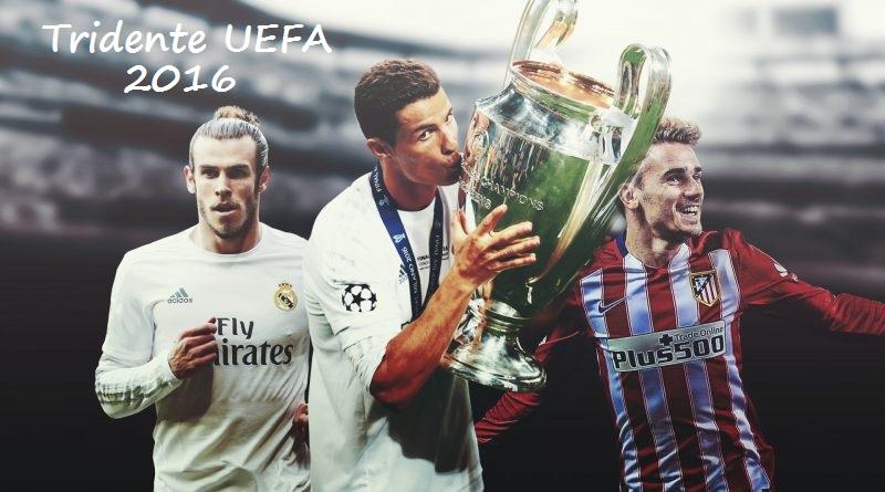 tridente UEFA 2016 cristiano ronaldo bale griezmann