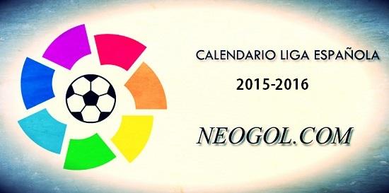 Calendario Liga Española 2015-2016