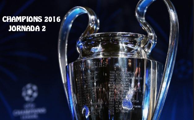 Partidos Jornada 2 Champions League 2016