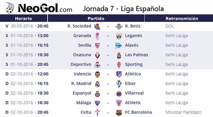 Jornada 7 Liga Española 2016