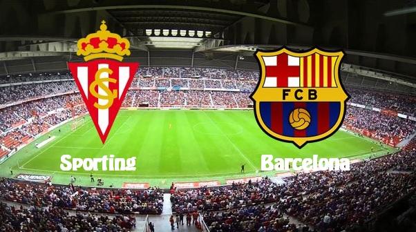 Alineación Sporting Gijón-Barcelona