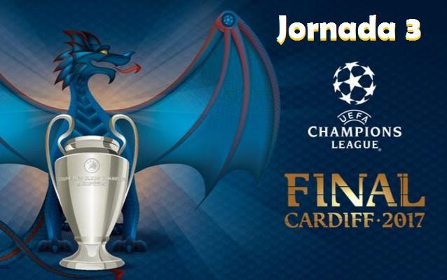 Partidos Jornada 3 Champions League 2016