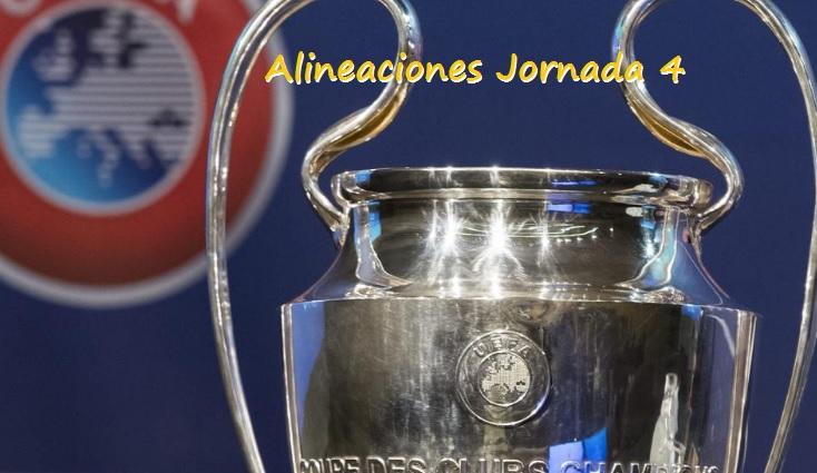 Alineaciones Jornada 4 Champions