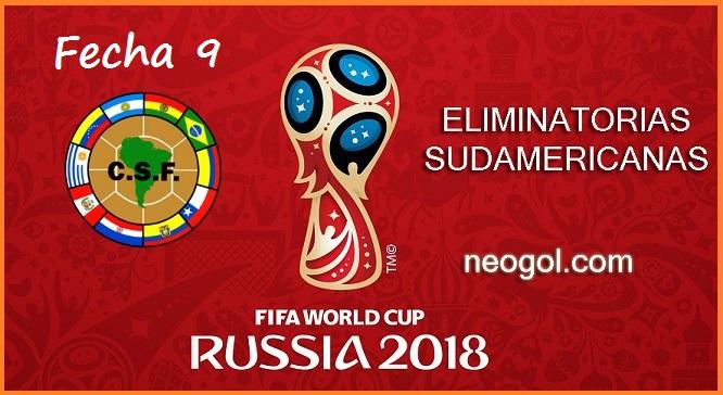 Eliminatorias Rusia 2018 Fecha 9