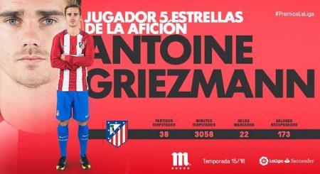 griezman-jugador-cinco-estrellas-premios-laliga-2016