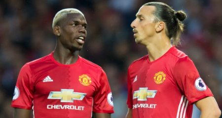 Ibrahimovic y Pogba Manchester United