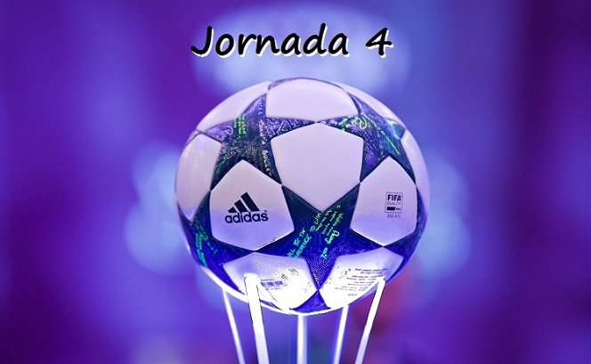 Partidos Jornada 4 Champions League 2016